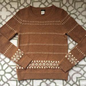 J. Crew Tan Wool Blend Sweater